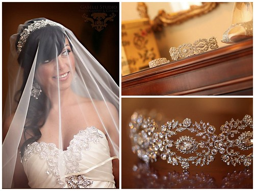Hanover Manor Wedding, Glamorous Bride, Pninia Tornai bride, glam bridal bangle, glam bridal headpiece, statement crystal chandelier earrings, real bridal styles boutique bride