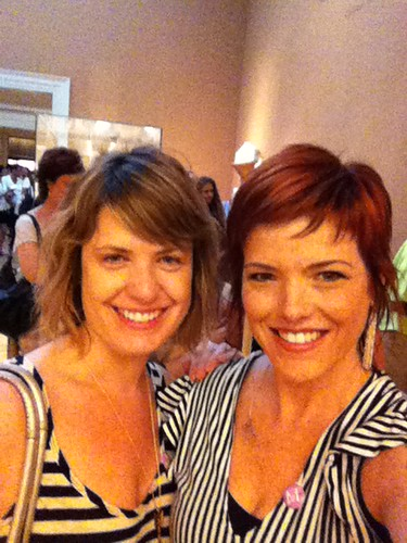 2 out of 2 knitting show hosts wear stripes to The Met.;)