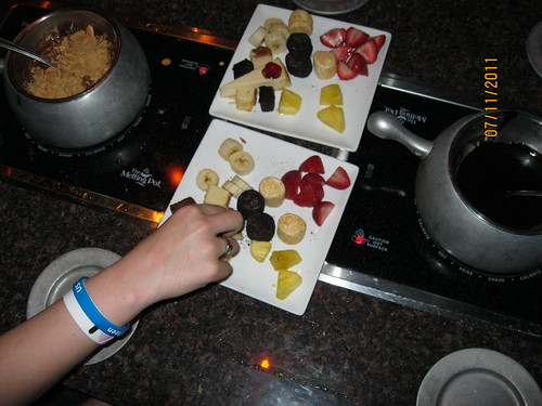 7/11/11: Dessert at Melting Pot, Chicago