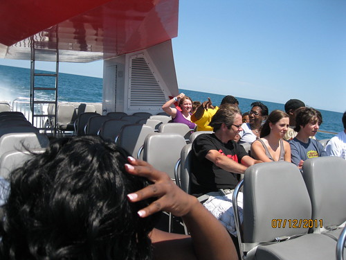 7/12/11: Katherine and the boys in the back in the wet zone.