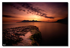 Bay of Laig (BoboftheGlen) Tags: longexposure sunset beach island bay coast scotland rocks small rum isles eigg laig the4elements cleadale boboftheglen