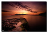 Bay of Laig (BoboftheGlen) Tags: longexposure sunset beach island bay coast scotland rocks small rum isles eigg laig the4elements cleadale boboftheglen