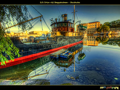 S/S Orion vid Skeppsholmen (foje64) Tags: reflection museum sunrise sweden stockholm orion sverige steamship salvage nationalmuseum skeppsholmen hdr pilot mygearandme mygearandmepremium mygearandmebronze mygearandmesilver mygearandmegold mygearandmeplatinum mygearandmediamond foje64