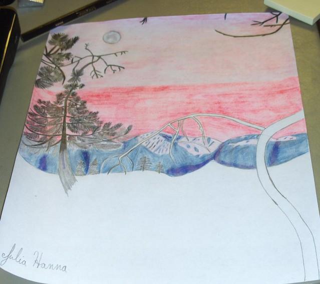 Forest Sunset Sketch: Part 7
