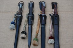 NCO bayonet knots of the States/Kingdoms of the German Empire (Paranoid_Womb) Tags: germany soldier bayern bavaria war saxony wwi knot butcher german weapon sachsen imperial worldwarone ww1 em nco greatwar officer worldwar prussia bayonet wrttemberg edged accouterments troddel seitengewehr troddeln portepee faustriemen
