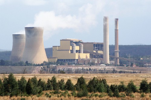 Looking across the open cut to Yallourn Power Station