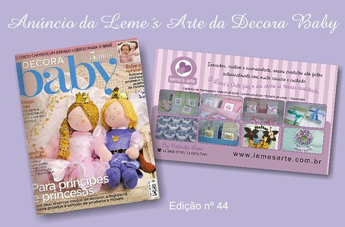 Anuncio Decora Baby edição 44 (julho) by LEME´S ARTE / By Helenita Leme