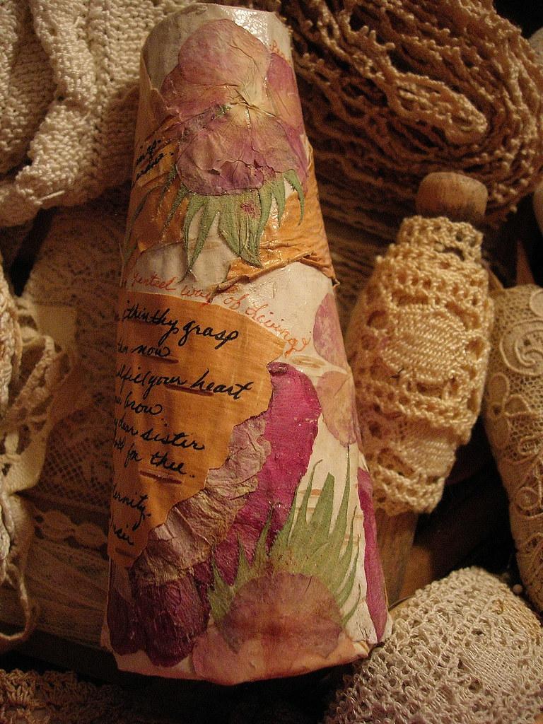 Pressed Flowers on Birch Bark