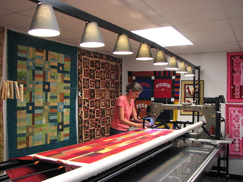 Quilting on a Gammill longarm machine