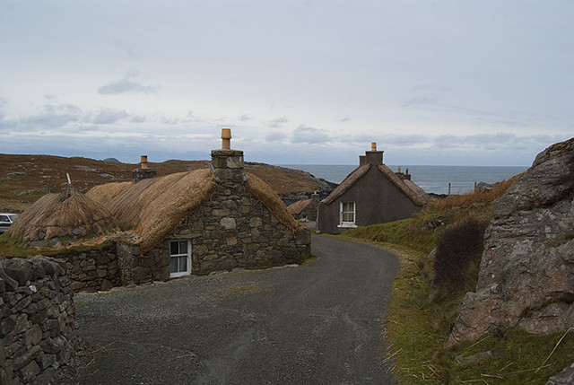 Blackhouse Village Isle of Lewis Outer Hebrides Scotland UK A002