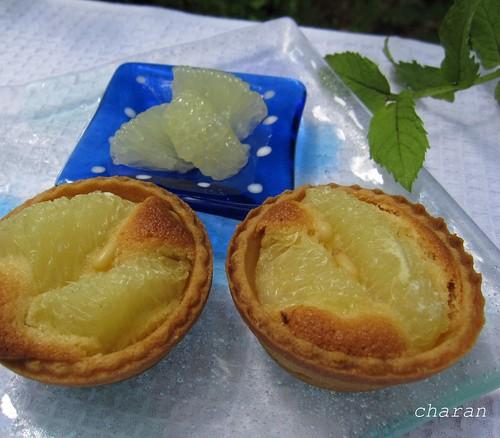 豆皿(四角)とグレープフルーツの焼きタルト by Poran111