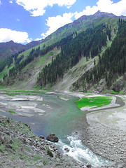 Jal Khad, Kaghan Valley (Aamir Choudhry) Tags: blue pakistan mountain green water river streams kaghan aamir jalkhad babusar lyallpur