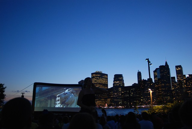 OpenAirCinema near the Brooklyn Bridge