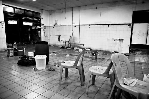 Emptiness inside Tanjong Pagar railway station