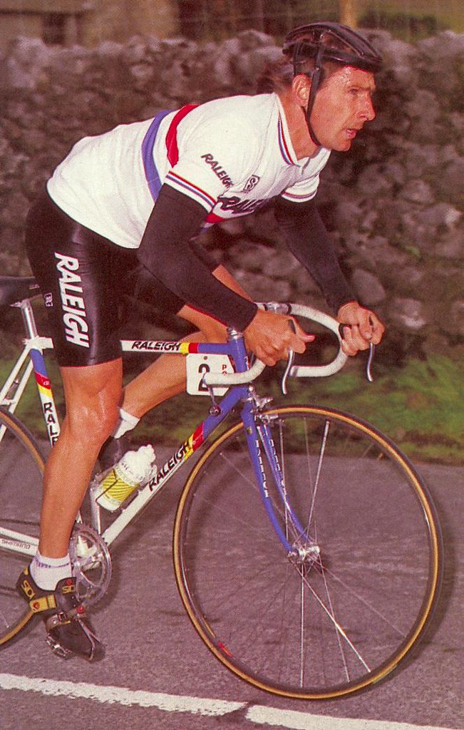 Paul Sherwen, British Road Race Champion.