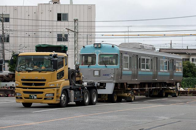 京王電鉄井の頭線3000系3029F クハ3779, 3019F クハ3719 搬出
