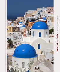 Blue Domes (PaoloPh) Tags: blue light white pentax santorini greece grecia domes bianco luce oia cicladi cupole k20d bestcapturesaoi masterclasselite