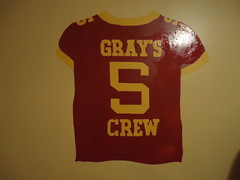 Gray's Crew (Barry Newman, LLC) Tags: art boys minnesota kids painting football twins mural university room quarterback m crew u barry jersey newman llc grays