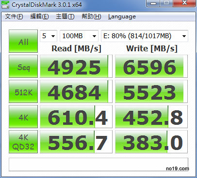 CrystalDiskMark 3.0.1 x64 2011724 上午 025431