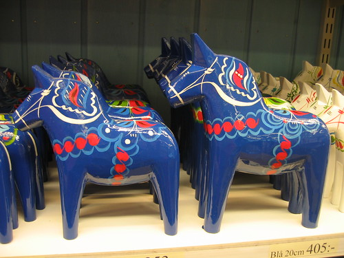 Dark Blue Dala Horse
