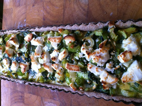 leek, spinach and goat's cheese tart