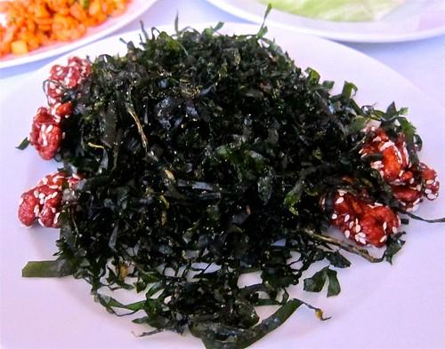 Gambei-fired seaweed