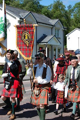 Clan Gregor during parade at Lochearnhead Games 23 July, 2011
