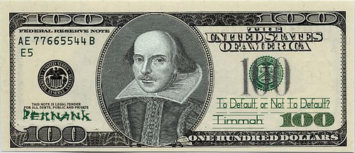 SHAKESPEARE NOTE (To Default, or not to Default...) by Colonel Flick
