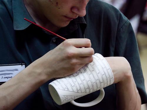 Мастер-класс по росписи керамики в Можайской воспитательной колонии для несовершеннолетних by hegtor