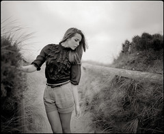 Labyrinth Of Passions II (Jochen Abitz) Tags: portrait film fashion analog fuji jan 100 6x7 sylt 67 scholz acros plaubel makina akvile micmojo
