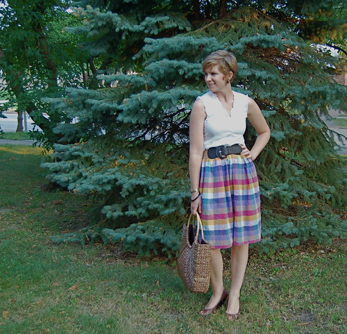 Plaid Skirt made from Dress