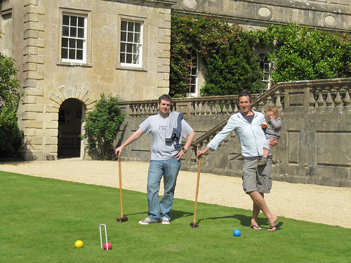 dads playing croquet