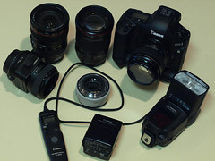 "some of my Canon 1D Mark III gear • <a style=""font-size:0.8em;"" href=""http://www.flickr.com/photos/44919156@N00/5989435131/"" target=""_blank"">View on Flickr</a>"