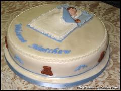 Boy's Christening Cake (lucienne curmi) Tags: boy cake malta baptism sleepingbaby fondant christeningcake sugarcraft