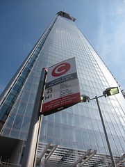 Bus stop and Shard (kimrickwood) Tags: bluesky busstop theshard 20110701londonjuly