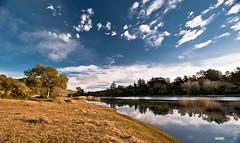 Bright day (Agrofilms) Tags: blue sky lake azul clouds sunrise lago uruguay nikon minas dam calm amanecer cielo nubes represa calma reflej