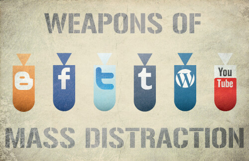 weapons of mass distraction by Hunter Langston
