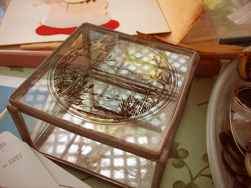 Thrift store find:Glass Box