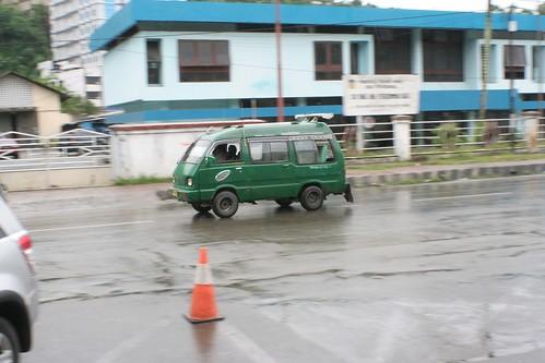 Bemo taxi minibus in Jayapura