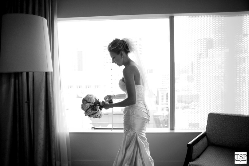 Candid of Bride Getting Ready