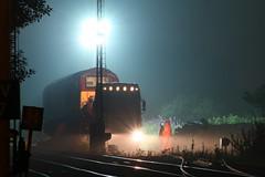 67021 on Allelys low loader (60044) Tags: station night train dark lens low rail railway loco trains db class 300mm nighttime locomotive loader skip heavy failed 67 loaded dbs stonehaven crippled daf schenker haulage ews 67021 allelys
