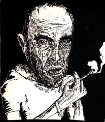 but warriors for the working day (Jim_V) Tags: portrait ink death sketch cancer terminal smoking patient warrior dippen liverpoolhospital nibpen
