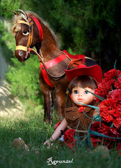 Nicolleta y su caballo. (Rapunzel new (on and off)) Tags: dolls collectibles nikond90 ruthtreffeisen