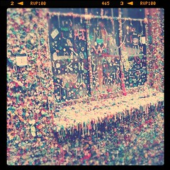 That's a whole lot of gum! The Gum Wall (sketchy pictures) Tags: square nashville squareformat iphoneography instagramapp uploaded:by=instagram