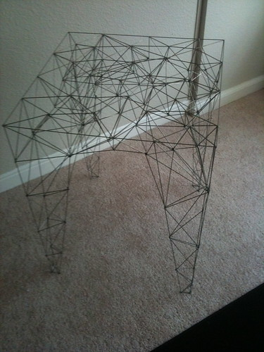 Wire frame table