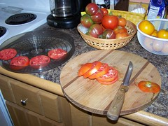 how you cut the tomatoes depends on their size and your intended use