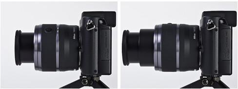 Nikon 30-110mm VR mounted on the Nikon V1