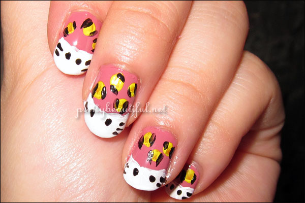 Wild Hello Kitty Nail Art