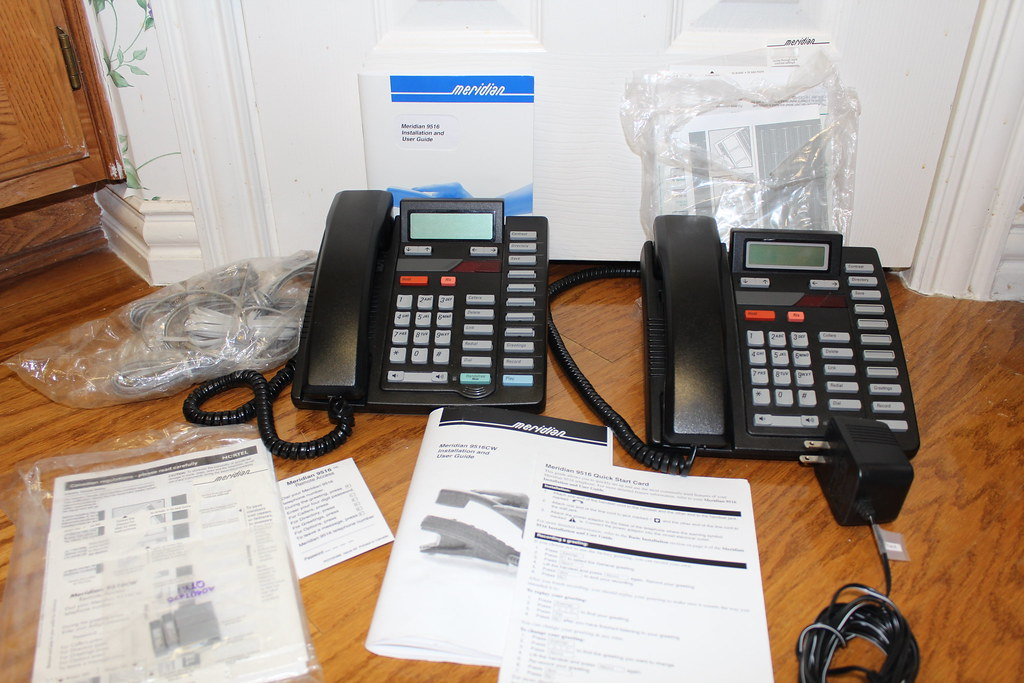 Two Nortel Meridian 9516 Small Business / Home Office Phones - $150