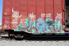 W.A.I. (KNOWLEDGE IS KING_) Tags: railroad color art yard train bench one graffiti paint panel tracks railway socal railcar crew boxcar wai piece burner bomb railfan freight hs fill in rollingstock plek